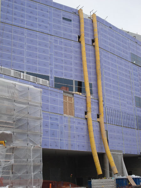 Universal Scaffolding Pittsburgh : Debris chute rental scaffold rentals