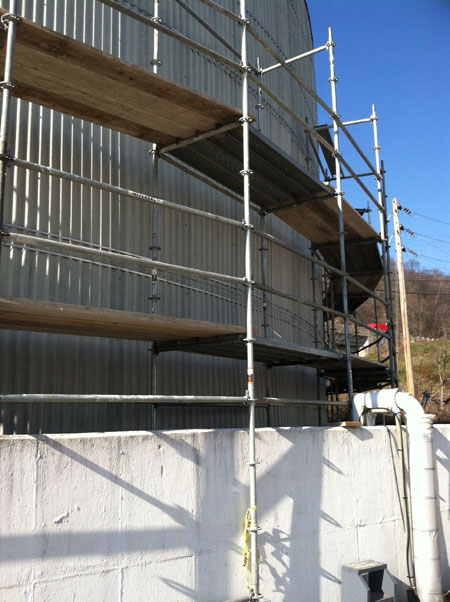 Where To Rent Scaffolding : Industrial scaffolding rental universal scaffold systems