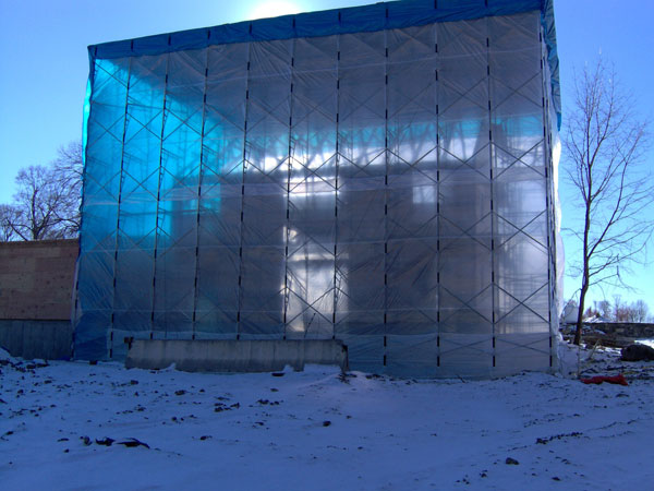 Universal Scaffolding Submarine : Weather enclosure scaffold rental
